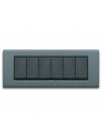 PLAQUE ZAMA45 6M SLATE GRAY