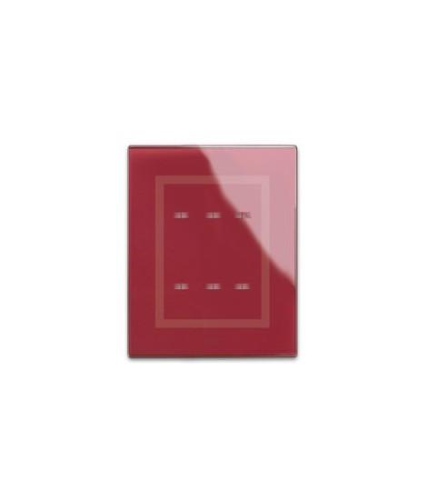 44PVTC33RPL-PLACCA TOUCH VETRO ROSSO POM33COM