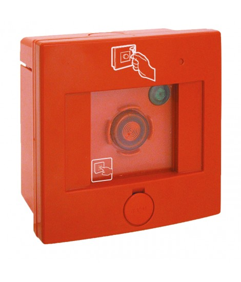 SQUARE IP66 ROTT. EMERGENCY GLASS