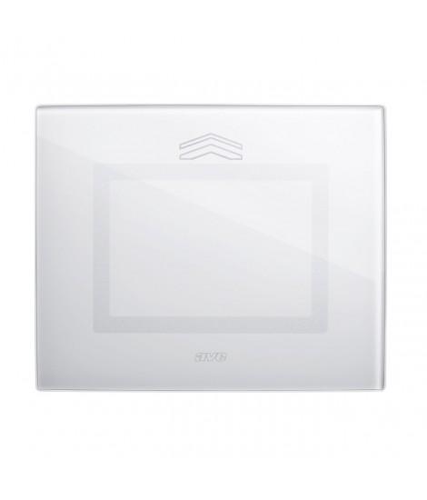 Touch Glass Plate, S44 BIANCA NEUT
