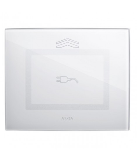 Touch Glass Plate, S44 BIANC. Plug