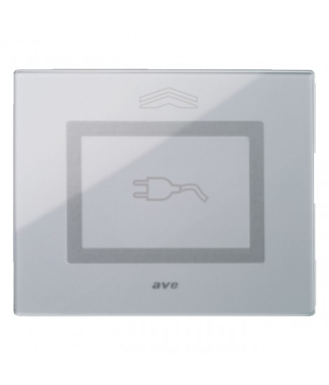 Touch Glass Plate, S44 GREY SPIN