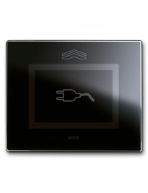 Placca Touch Vetro, S44 NERA SPINA