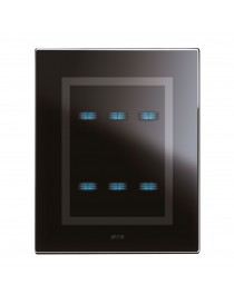 PLATE TOUCH GLASS BLACK ACE.3+3COM