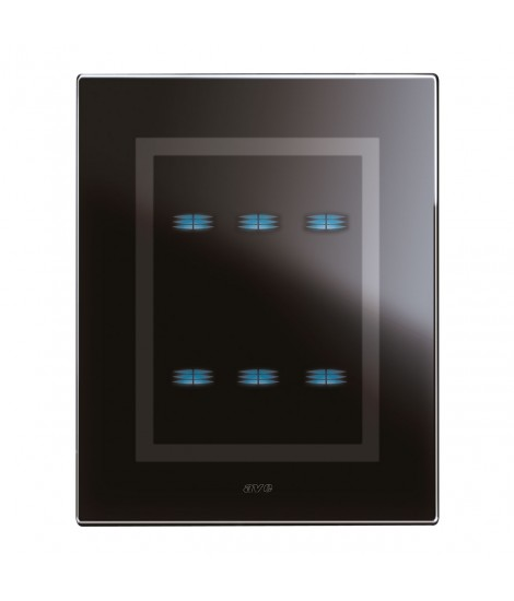 BLACK GLASS TOUCH PLATE ACE.3+3COM