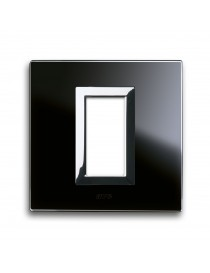 PLAQUE VERA44 BLACK GLASS AMOUNT 1M