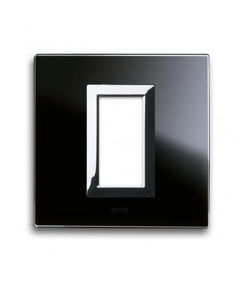 PLATE VERA44 BLACK GLASS ASSOLUT 1M