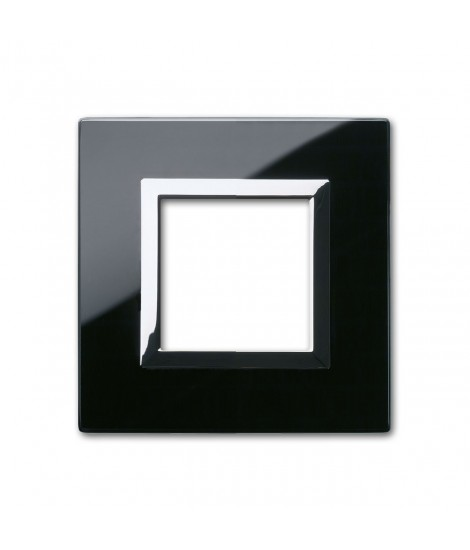 PLATE VERA44 BLACK GLASS ASSOLUT 2M