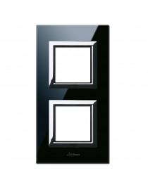 VERA44 BLACK GLASS PLATE ASSOL.2+2M