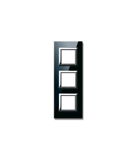VERA44 BLACK GLASS PLAQUE ASS.2+2+2M
