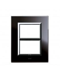 PLAQUE VERA44 BLACK GLASS ABSOLVED 3+3M