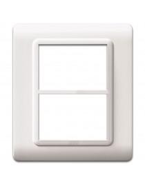 PLAQUE TECH.44 WHITE RAL9010 3+3M