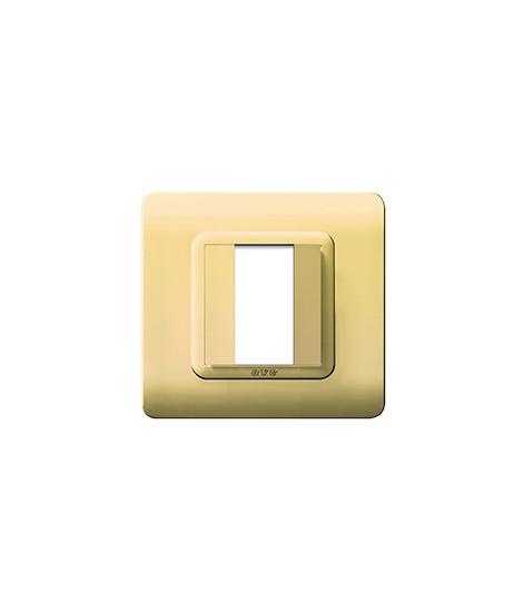 PLATE TECN.44 88X88 BRASS LIGHTS.1M
