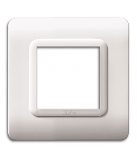 PLATE TECN.44 88X88 WHITE 2M