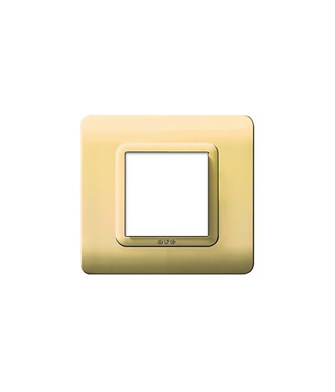 PLATE TECN.44 88X88 BRASS LIGHTS.2M