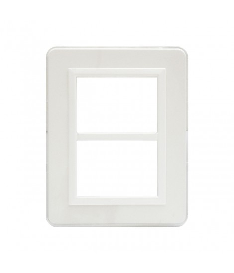 PLACCA PERSONAL44 BIANCO 3+3M