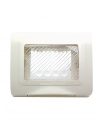 PLACCA IP55 RAL9010 MEMBRANA S44 3M