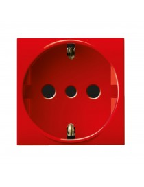 SCHUKO SOCKET 2P+T 16A RED S44 2M