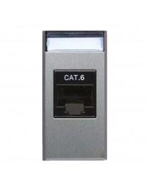 RJ45 SOCKET, CAT.6 UTP CABLE AVE ALLUMIA 1M