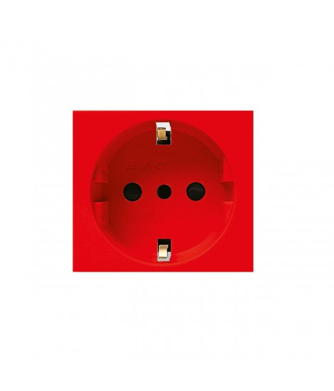 UNEL 2P+T 16A RED SOCKET