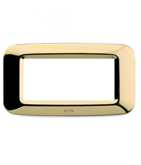 PLACCA YES TECNOP. 4MOD. OTTONE