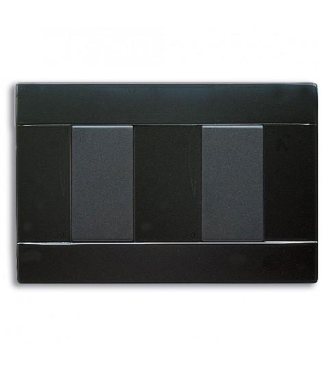 PLATE RAL45 2MOD. GLOSSY BLACK