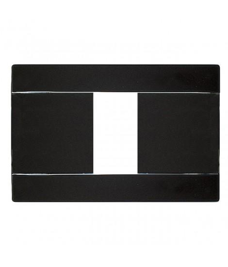 PLATE RAL45 1 MOD. GLOSSY BLACK