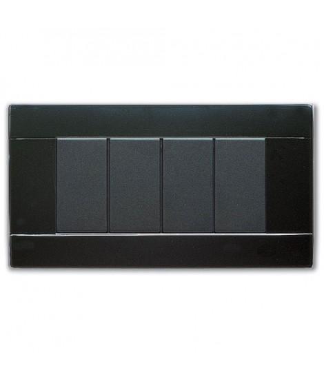 RAL45 GLOSSY PLATE 4M. GLOSSY BLACK